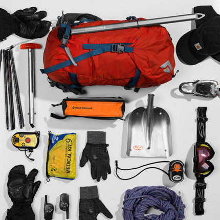 Backcountry ski packing