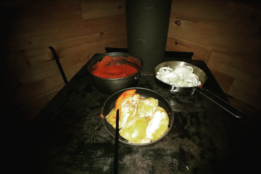 La fois où ça sentait le poulet au beurre dans le shack !