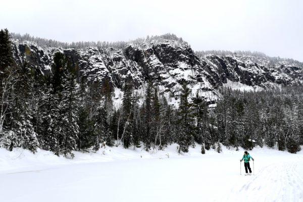 Photographie – Palissades de Charlevoix en ski