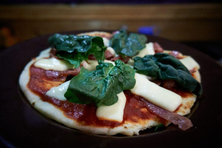 Cuisiner la pizza sur son réchaud !